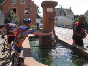Photo durant les chaleurs 2012 : la chasse aux fontaines