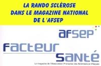 Notre organisation la Rando Sclérose au profit des sclérosés en plaques a eu l'honneur d'une parution dans le magazine national de l'AFSEP Cliquez pour lire l'article