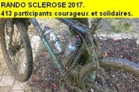 Bilan Rando Sclérose 2017. 413 participants et environ 2900 € collectés.