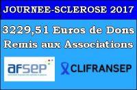 La remise de Dons de la Journée Sclérose a eu lieu le samedi 18 Novembre à la Mairie de Danjoutin.