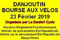 Bourse aux Vélos et aux Equipements à DANJOUTIN Le Samedi 23 février 2019 Cliquez sur l'image pour tout savoir sur la Bourse aux Vélos 2019